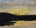 Sunset on Round Lake
